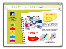 BADGE CARTE PLASTIQUE