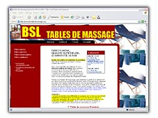visuel BSL tables de massage