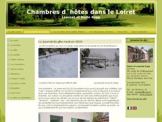 Chambres d'hôtes orléans, tables d'hotes orleans, Chambres d'hôtes dans le Loiret.Gîtes à Germigny des Près - Hébergement au coeur du Val de Loire,