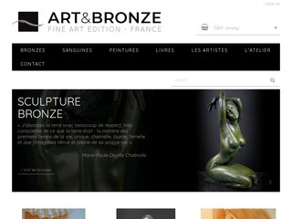 Deville Chabrolle, sculptures en bronze, tirage d'art, sculpture bronze orleans