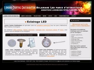 Loisirs Centre Distribution, spécialiste des animations lumineuses pour les parcs d'attractions, fêtes foraines et enseignes