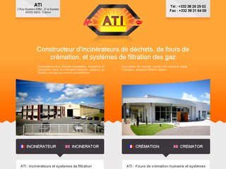 ATI : incinérateurs déchets, de fours de crémation, systèmes de filtration des gaz
