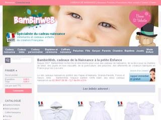 Bambinweb, cadeaux de naissances pour bébés