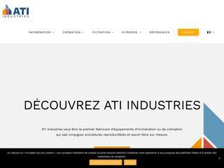 ATI, incinérateur de déchets médicaux, incinérateurs animaliers, incinérateurs industriels et système de filtration