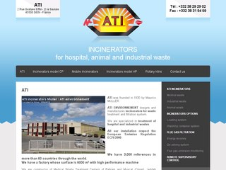 incinerators ATI, industrial incinerator, animal incinerator, medical incinerators, waste incinerator