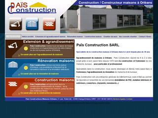 Pais Constructions, extension, rénovation et construction de maisons sur Orléans